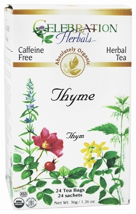 DROPPED: Celebration Herbals - Organic Caffeine Free Thyme Herbal Tea - 24 Tea Bags