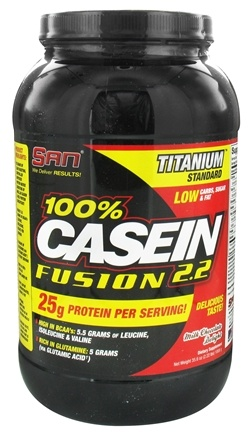 DROPPED: SAN Nutrition - 100% Casein Fusion 2.2 Titanium Standard Milk Chocolate Delight - 2.22 lbs. CLEARANCE PRICED
