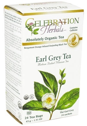 DROPPED: Celebration Herbals - Organic Earl Grey Tea - 24 Tea Bags CLEARANCE PRICED