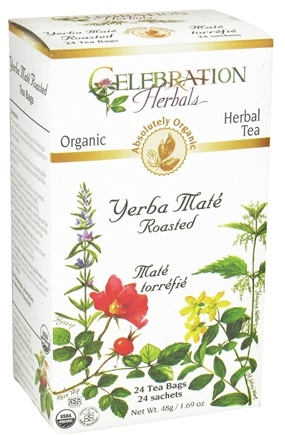 DROPPED: Celebration Herbals - Organic Yerba Mate Roasted Herbal Tea - 24 Tea Bags CLEARANCE PRICED