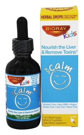 BioRay Kids - NDF Calm Herbal Drops Vanilla - 2 oz.