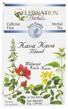 Celebration Herbals - Pure Quality Caffeine Free Kava Kava Blend Herbal Tea - 24 Tea Bags