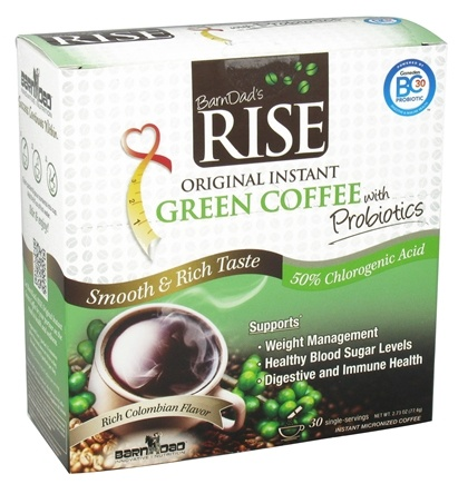 DROPPED: BarnDad - Rise Original Instant Green Coffee with Probiotics - 30 Serving(s)