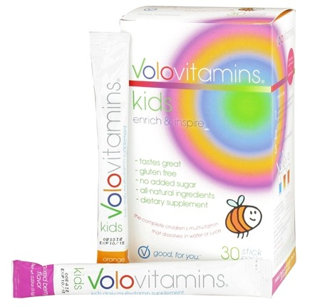 DROPPED: Volo Vitamins - VoloKids Daily Multivitamin Mixed Berry & Orange Flavors - 30 Stick(s) CLEARANCE PRICED