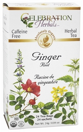 DROPPED: Celebration Herbals - Organic Caffeine Free Ginger Root Herbal Tea - 24 Tea Bags