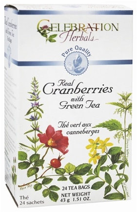 DROPPED: Celebration Herbals - Pure Quality Real Cranberries with Green Tea - 24 Tea Bags CLEARANCE PRICED