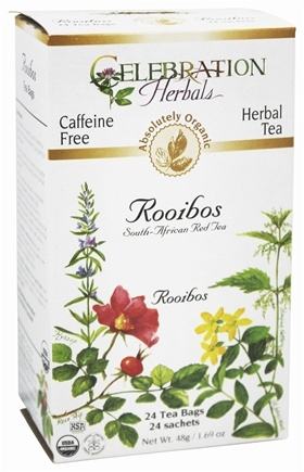 Celebration Herbals - Organic Caffeine Free Roobios South-African Red Tea Herbal Tea - 24 Tea Bags
