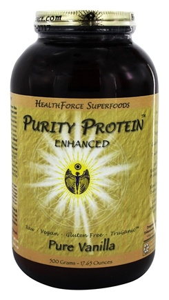 DROPPED: HealthForce Nutritionals - Purity Protein Enhanced Pure Vanilla - 500 Grams
