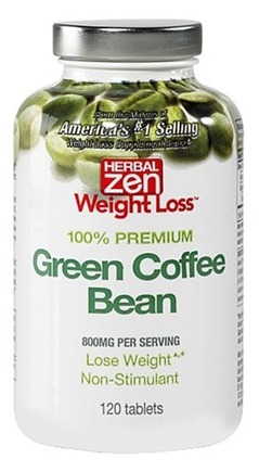 DROPPED: Herbal Zen Weight Loss - Green Coffee Bean 100% Premium 800 mg. - 120 Tablets