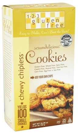 DROPPED: 123 Gluten Free - Chewy Chipless Scrumdelicous Cookie Mix - 26.08 oz.