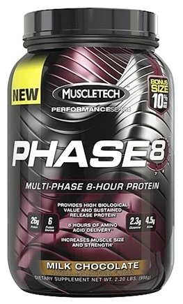 DROPPED: Muscletech Products - Phase8 Performance Series Multi-Phase 8-Hour Protein Milk Chocolate Bonus Size - 2.2 lbs. CLEARANCE PRICED