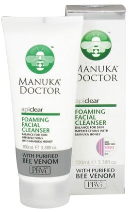 DROPPED: Manuka Doctor - ApiClear Foaming Facial Cleanser With Purified Bee Venom - 3.38 oz.