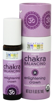 DROPPED: Aura Cacia - Organic Chakra Balancing Aromatherapy Roll-On Enlightening Crown - 0.31 oz.