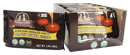 DROPPED: Newman's Own Organics - Super Dark Chocolate Cups with Peanut Butter Centers - 1.9 oz.