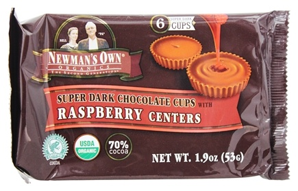 Newman's Own Organics - Super Dark Chocolate Cups with Raspberry Centers - 1.9 oz.