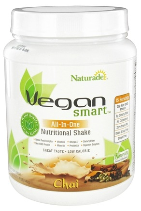 DROPPED: Naturade - VeganSmart All-In-One Nutritional Shake Chai - 22.75 oz. CLEARANCE PRICED
