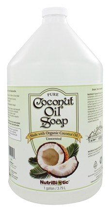 Nutribiotic - Pure Coconut Oil Soap Unscented - 1 Gallon