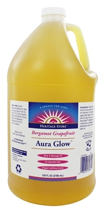 DROPPED: Heritage - Aura Glow Body Oil Bergamot Grapefruit - 1 Gallon