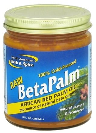 DROPPED: North American Herb & Spice - Raw BetaPalm African Red Palm Oil - 8 oz. CLEARANCE PRICED