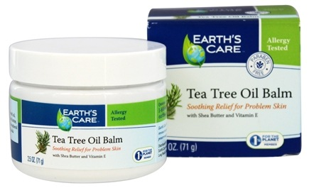 DROPPED: Earth's Care - Tea Tree Oil Balm with Shea Butter and Vitamin E - 2.5 oz.