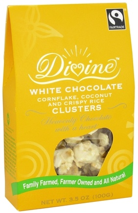 DROPPED: Divine - White Chocolate Cornflake, Coconut and Crispy Rice Clusters - 3.5 oz.