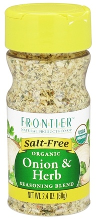 DROPPED: Frontier Natural Products - Organic Onion & Herb Seasoning Blend - 2.4 oz. CLEARANCE PRICED