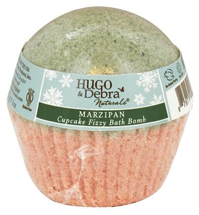 DROPPED: Hugo Naturals - Winter Edition Cupcake Fizzy Bath Bomb Marzipan - 6 oz. CLEARANCED PRICED