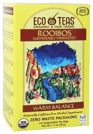 DROPPED: Eco Teas - Rooibos Sustainably Harvested Warm Balance - 24 Tea Bags