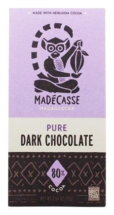 Madecasse - Chocolate Bar 80% Cocoa - 2.64 oz.