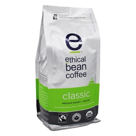 DROPPED: Ethical Bean Coffee - Organic Medium Roast Whole Bean Classic - 12 oz. CLEARANCE PRICED