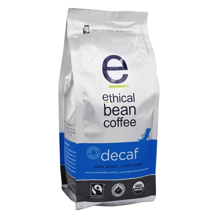 DROPPED: Ethical Bean Coffee - Organic Dark Roast Whole Bean Decaf - 12 oz. CLEARANCE PRICED
