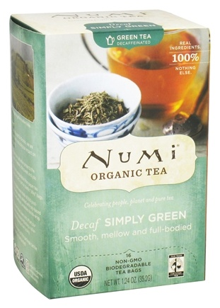 DROPPED: Numi Organic - Simply Green Tea Decaf - 16 Tea Bags