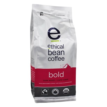 DROPPED: Ethical Bean Coffee - Organic Dark Roast Whole Bean Bold - 12 oz. CLEARANCE PRICED
