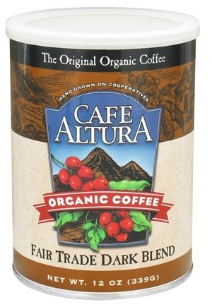 DROPPED: Cafe Altura - Organic Coffee Fair Trade Dark Blend - 12 oz. CLEARANCE PRICED