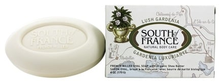 DROPPED: South of France - French Milled Vegetable Bar Soap Lush Gardenia - 6 oz.