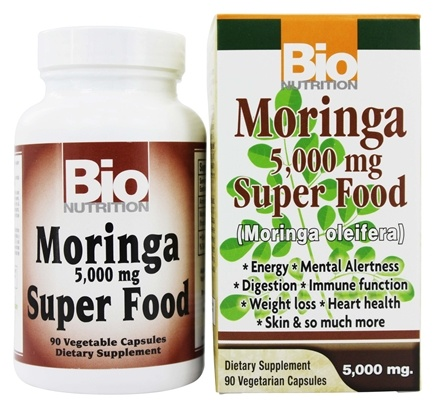 Bio Nutrition - Moringa Superfood 5000 mg. - 90 Vegetarian Capsules
