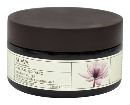 AHAVA - Mineral Botanic Rich Body Butter Lotus & Chestnut - 8 oz.