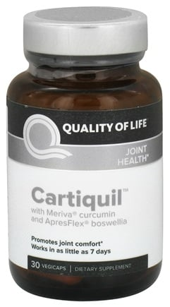 DROPPED: Quality Of Life Labs - Cartiquil Joint Support - 30 Vegetarian Capsules CLEARANCE PRICED
