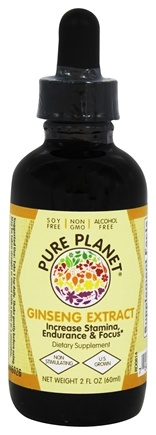 DROPPED: Pure Planet - White American Ginseng Extract - 2 oz. CLEARANCE PRICED
