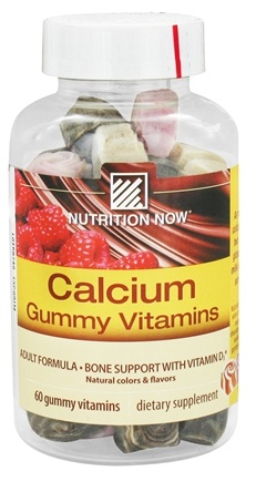 DROPPED: Nutrition Now - Calcium Adult Gummy Vitamins - 60 Gummies