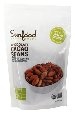 DROPPED: Sunfood Superfoods - Organic Raw Whole Cacao Beans - 8 oz.