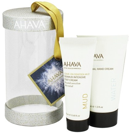 DROPPED: AHAVA - Bright & Merry Ornament Mineral Hand Cream + Dermud Intensive Foot Cream - CLEARANCED PRICED