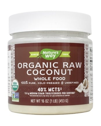 Nature's Way - Organic Pure & Unrefined Raw Whole Food Coconut - 16 oz.