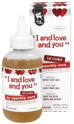 DROPPED: I And Love And You - My Sparkly Ears Dogs & Cats Ear Cleaner - 4 oz. CLEARANCE PRICED