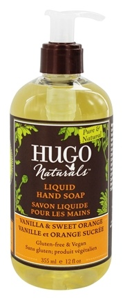 Hugo Naturals - Liquid Hand Soap Comforting Vanilla & Sweet Orange - 12 oz.