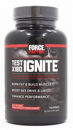 Buy Force Factor - Test X180 Ignite - 120 Capsules at LuckyVitamin.com