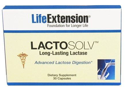 DROPPED: Life Extension - LactoSolv Long-Lasting Lactase - 30 Capsules CLEARANCE PRICED