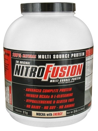 DROPPED: NitroFusion - Multi Source Protein Mocha with Energy - 5 lbs.