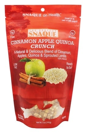 DROPPED: The Perfect Snaque - Cinnamon Apple Quinoa Crunch - 5 oz.