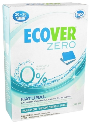 DROPPED: Ecover - Zero Laundry Powder 20 Loads Unscented - 48 oz.
